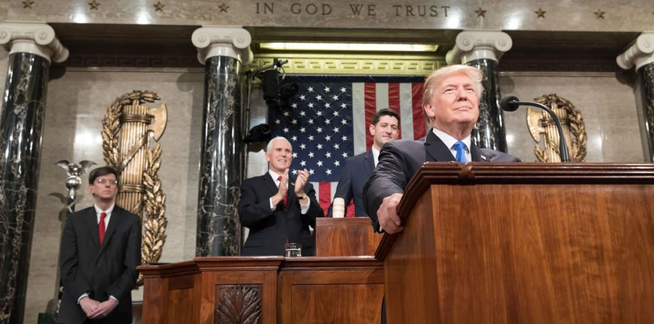 Donald Trump, State of the Union Rede im Kongress