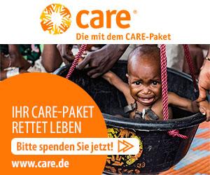 Care Logo und Werbung